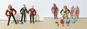 VINTAGE Star Trek TNG Playmates 1992 93 Lot (5) WESLEY PICARD WORF + MORE
