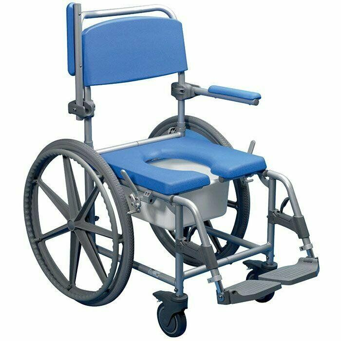 MR WHEELCHAIR SELF PROPELLING SHOWER COMMODE
