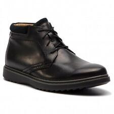 Mens Clarks Norton Mellor Zip Black Leather Ankle BOOTS G