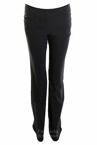 Ladies-Girls-Black-School-Trousers-Clip-Stretch-Women-039-s-Hipsters-6-8-10-12-14