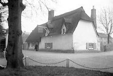 1910s HEMINGFORD GREY Anchor Inn Antique Photographic Glass Negative (Cambridge)