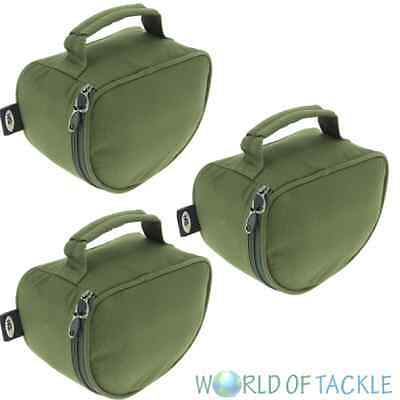 2 x New Padded Green Reel Cases Bag For Carp Pike Fishing Tackle