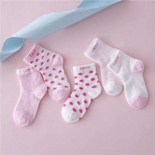 5 Pairs Unisex Cotton Baby Socks Newborn Floor Socks Girl and Boy Short Socks