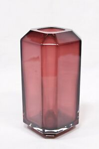 Louise Roe Amethyst Glass Jewel Vase