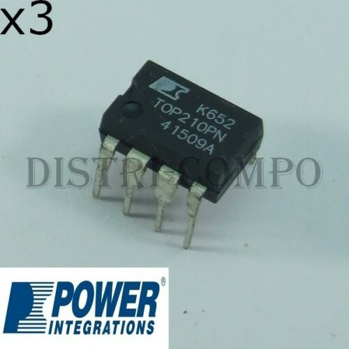 TOP210PN off-Line Pwm Switch DIP-8 Power Integrations Batch Of 3