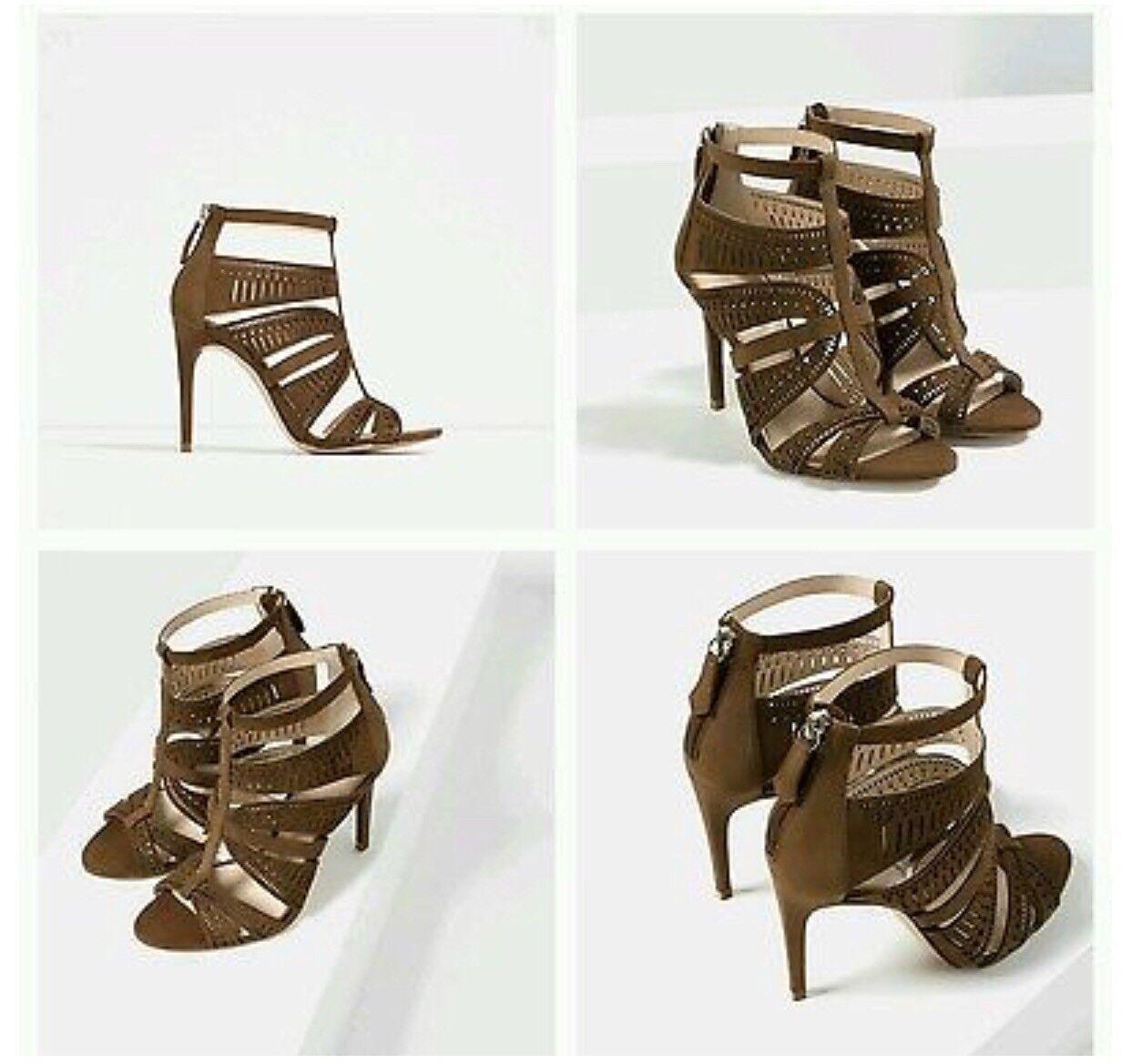 Zara Leather High Heels Größe Größe Größe 6.5 97a660