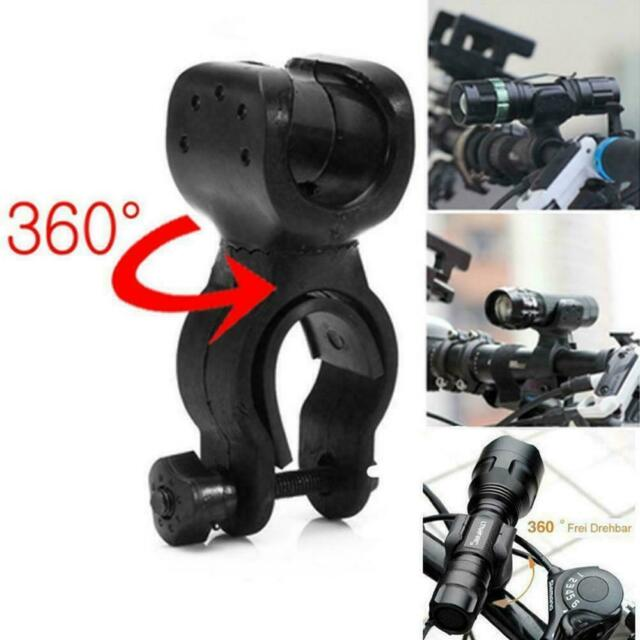 1PC 360° Swivel Bicycle Bike Rotation Holder Clip Clamp Mount for LED Flashlight