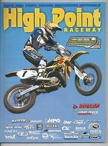 Vintage High Point Nationals 2000 AMA Motocross Program Greg Albertyn Suzuki