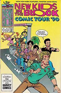 NEW KIDS ON THE BLOCK COMIC TOUR '90 NUMBER 2 JANUARY 1991 HARVEY COMICS