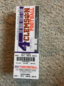 Details About 2017 Clemson Tigers Vs Wake Forest College Football Ticket Stub 10 7