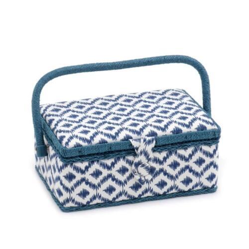 Sewing Basket Small Rectangle Sewing Box MRSRF\270 Scribble Diamond