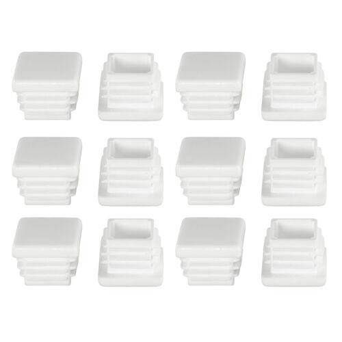 Capots pour carré tubes lamelles raccommode nécessairement Description voir Blanc