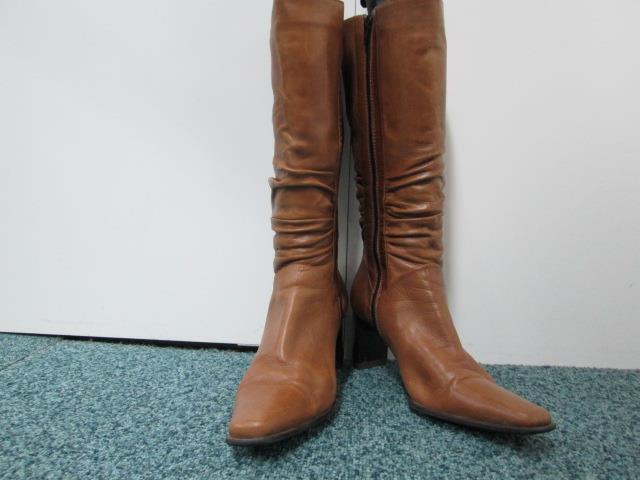 WOMENS WINTER BOOTS TAN BROWN EU 39 UK 6 GOOD/VERY GOOD SKU AA825