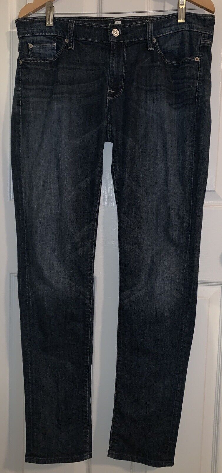 7 For All Mankind Roxanne Straight Skinny Mid rise Jeans Size 31