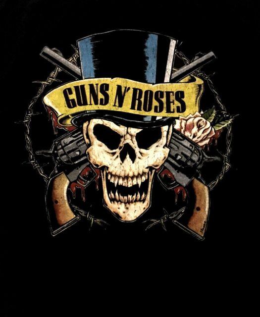 GUNS N' ROSES cd lgo TOP HAT SKULL PISTOLS Official SHIRT LAST XL New OOP