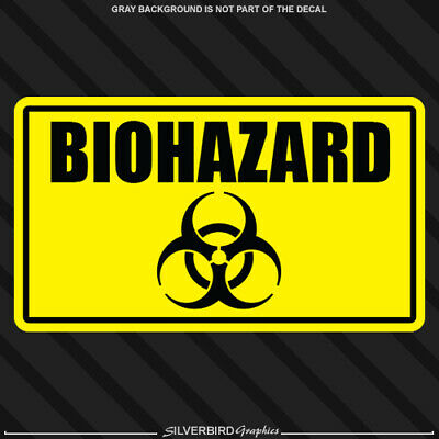 Bio-Hazard Symbols Decals Toxic Chemical car truck window vinyl stickers x 2