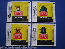 Return of the Jedi  1st Series  Bubblegum Card Wrappers - Set of 4 - 1983  Topps