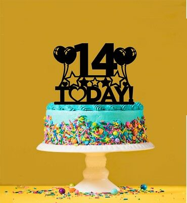 Remarkable 14Th Birthday Cake Topper 14 Years Old Fourteenth Ebay Personalised Birthday Cards Akebfashionlily Jamesorg