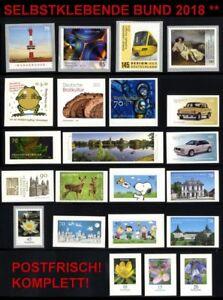 2018sk-BRD-BUND-selbstklebende-Briefmarken-2018-postfrisch-komplett