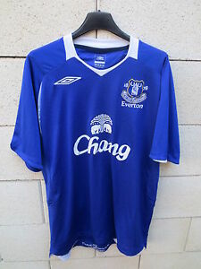 Maillot-EVERTON-Umbro-shirt-Chang-bleu-football-anglais-L