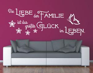 Wandtattoo Spruch Liebe Familie Gluck Leben Sticker Wandaufkleber