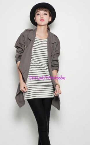 FREE SHIPPING! Japan Striped Pocket Fitted Knit Tunic Shirt