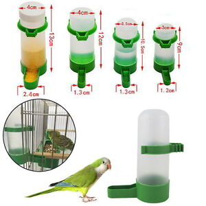 12pcs Bird Seed Feeder Pigeon Parrot Budgie Canary Drinker Food Feeder Waterer R