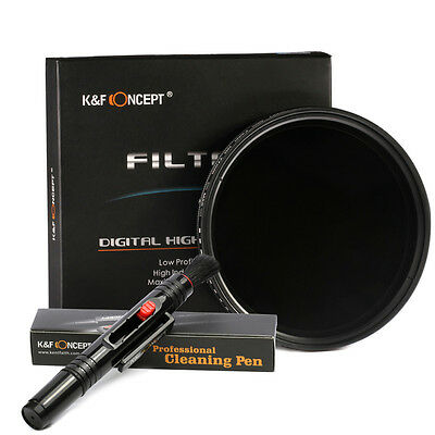 62mm Slim Fader Variable Adjustable ND Neutral Density ND2 to ND400 Lens Filter