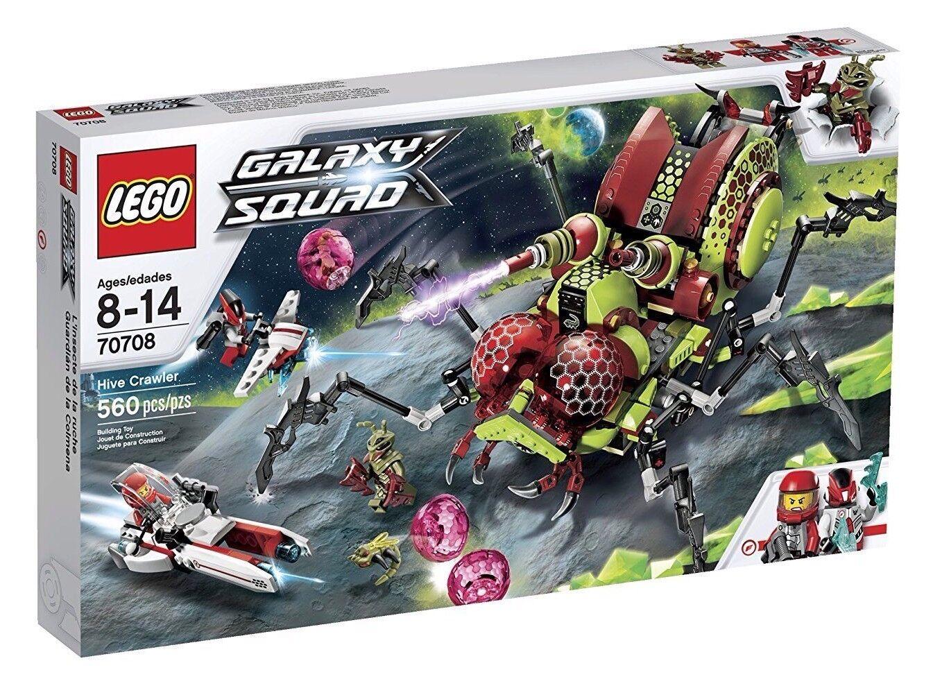 Lego 70708 Galaxy Squad Hive Crawler Huge Retirosso Set Nuovo Sealed