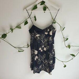 Zimmerman-Black-Beige-Floral-Micro-Mini-Cami-Slip-Dress-0-AU6-Summer-Party