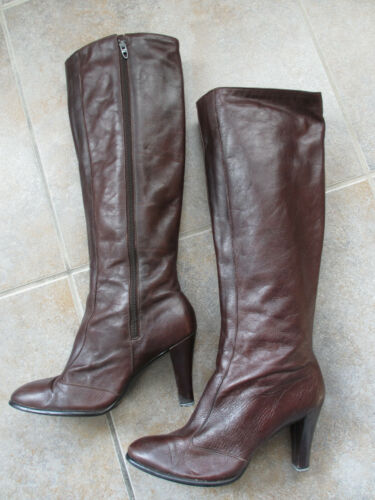 VINTAGE GOLO BOOTS Tall Riding Boots Brown Leather