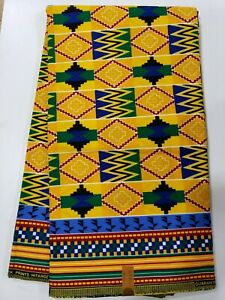 Sell by 6 Yards BATIK  High Quality African Ankara Wax Print 100/% Cotton