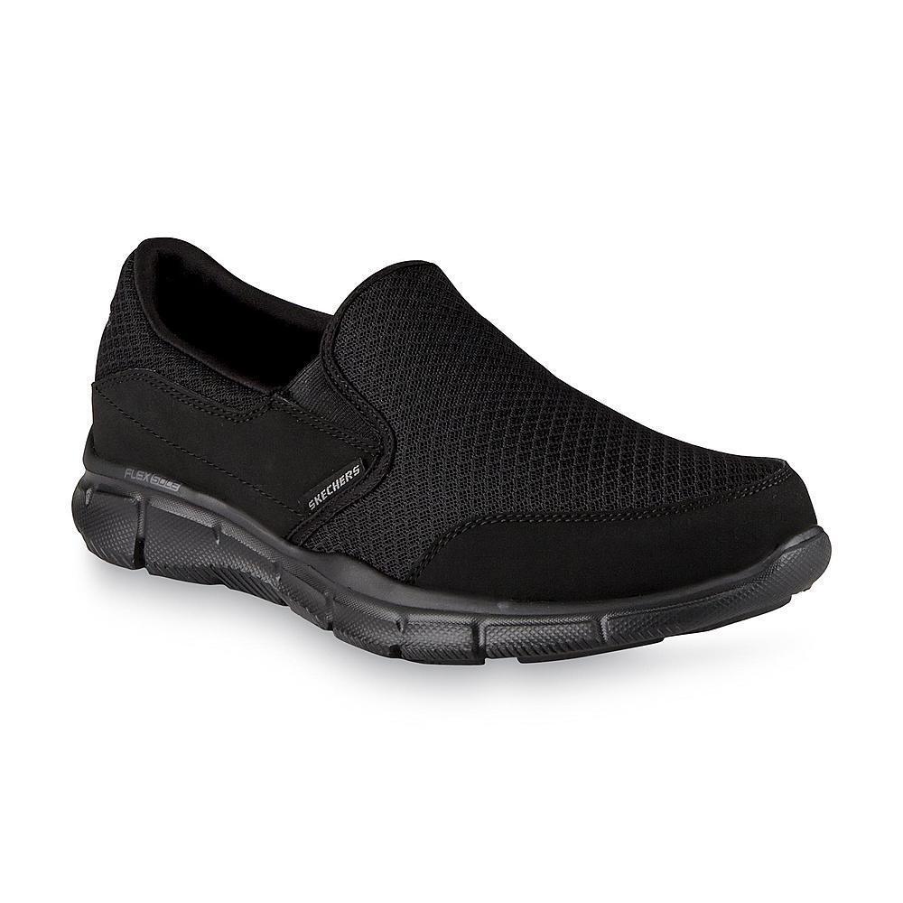 Homme Skechers Equalizer ATHLETIC chaussures noir Tailles 8-12 Large Mémoire Foam