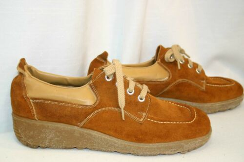 8.5 M NOS Rust Suede Leather Vtg 60s 70s Roberts S