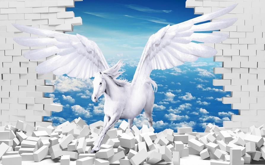 3D Himmel Weiße Pferde 865 Tapete Wandgemälde Tapete Tapete Tapete Tapeten Bild Familie DE | Ideales Geschenk für alle Gelegenheiten  | Starker Wert  |  03193c