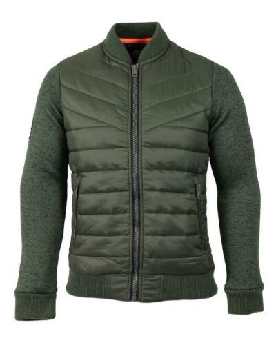 Superdry Mens M20017PP STORM Jacket Olive Green Fuji Windcheater Black