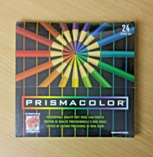 Sanford Prismacolor 24 Color Soft Thick Lead Pencils PC953 NEW Vintage 1999