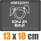 Vorsicht! Kind an Board 13 x 10 cm JDM Decal Adhesive Sticker Racing Die Cut