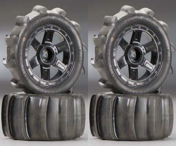 Pro-Line 10101-10 Sling Shot 2.2  Sand Tires   Wheels Mounted 1 16 E-Revo (4)