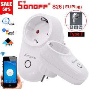Sonoff-S26-Type-F-TFTTT-WIFI-Smart-Power-Socket-Wireless-Plug-Time-Fr-Alexa-IOS