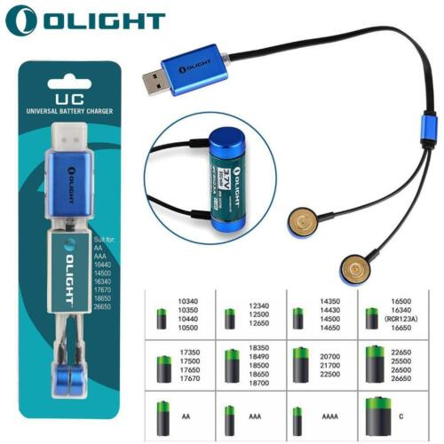 Olight UC Universal Magnetic USB Battery Charger for 18650//14500//16340//26650