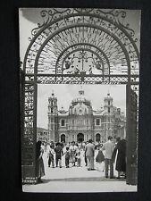 Basilica De Guadalupe Mexico RPPC Tarjeta Postal Foto Gamboa Correos, MX Stamp