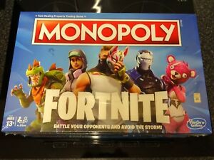 Brand New Fortnite Monopoly Edition Hasbro Board Game Sealed Kids