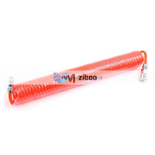 8mm ODx 5mm Inner Dia 5 Meters Long Red PU Pneumatic Air Tubing Pipe Hose