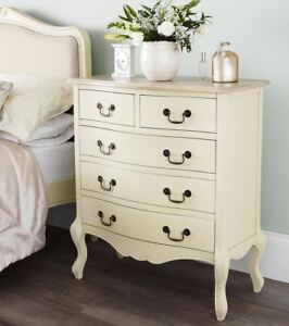 Image Is Loading Juliette Shabby Chic Champagne Chest Of Drawers 5