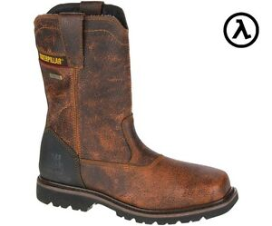 CAT CANYON PULL ON WATERPROOF STEEL TOE WORK BOOTS - P90746 * SALE ...