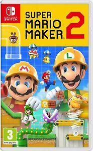 Super Mario Maker 2 Nintendo Switch Brand New Factory Sealed
