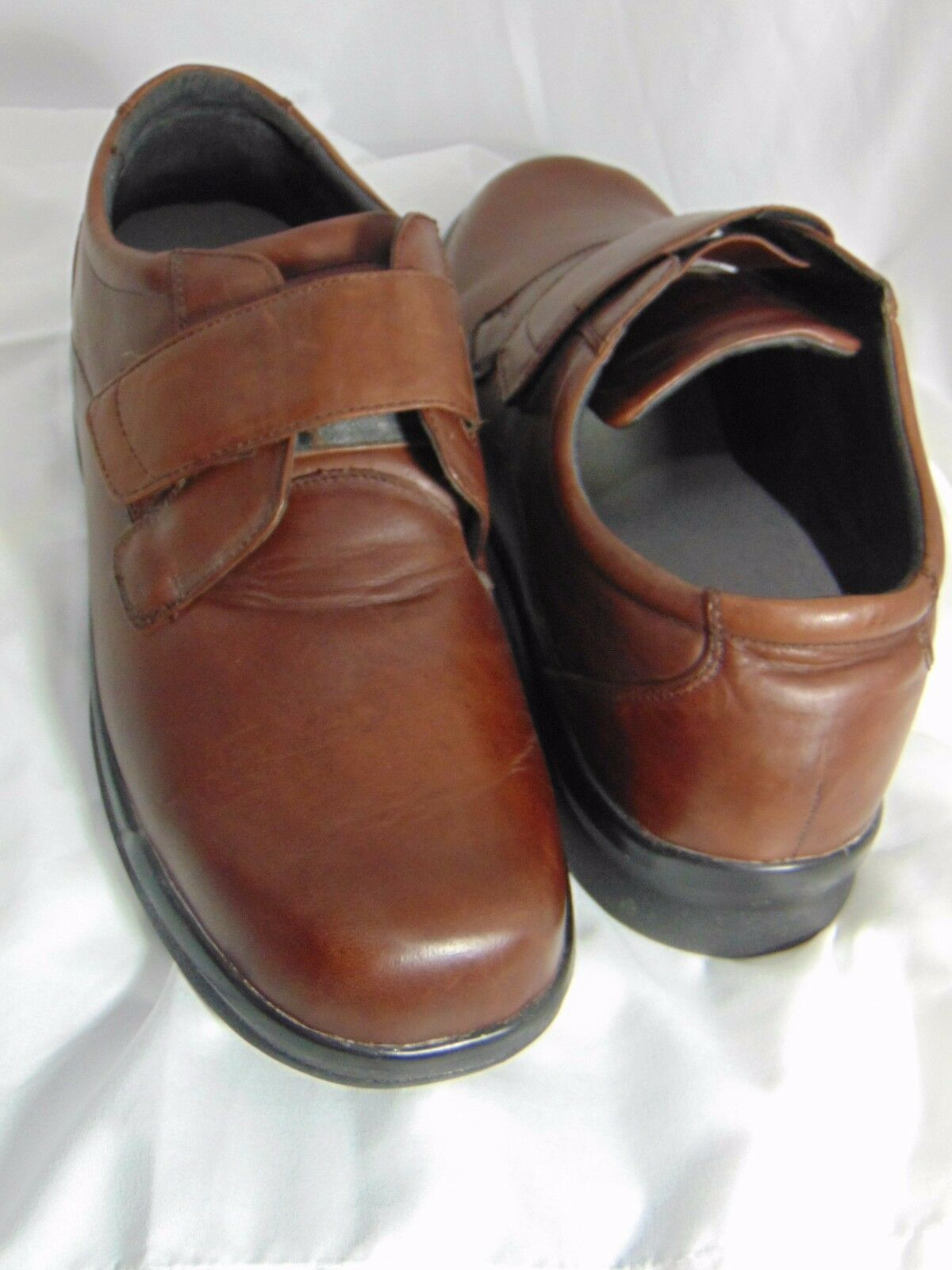 APEX Ambulator Men's Single One Strap Oxford Size 14 X-Wide Brown Leather B3100M