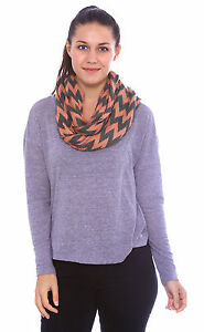 New Women Winter Warm Striped Wave Infinity Scarf 2 Cirlce Cable Long Shawl Wrap