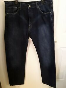 Levis-505-Blue-Jeans-Mens-38x32-Regular-Straight-red-tag